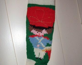 Knit Christmas Stocking Drummer  Personalized