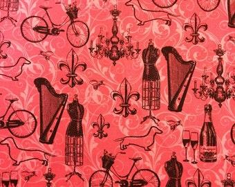 Red dress quilt graphics