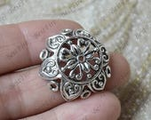 Big 25mm 4pcs of New style flower Bead Caps Antique silver Tone,beadcap findings,beads,findings beads