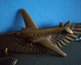 Vintage Jewelry - Jan Michaels Metal Airplane Pin