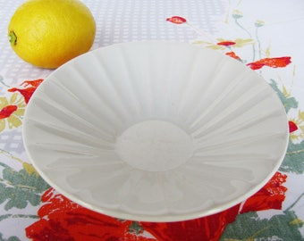 Caribe China Small 6 Inch Bowl 1960s White Fluted Interior