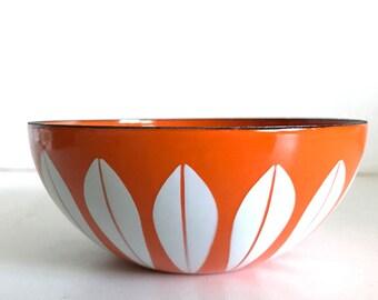 Vintage Orange Cathrineholm Lotus Bowl