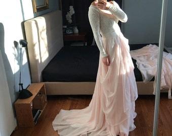Valentina-Custom wedding skirt-Chiffon wedding skirt-Blush wedding skirt-nude bridal skirt-wedding skirt