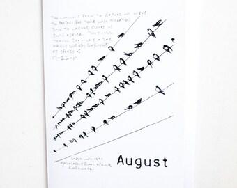 August - Wild Month Blank Card