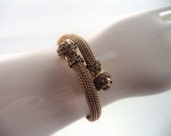 Antique Victorian Wrap Bracelet Gold Filled Etruscan Style Bracelet