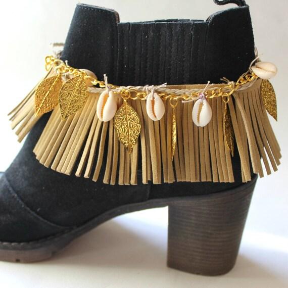 Barefoot sandals, wedding sandals, boho Boot cuffs -boot wraps -  festival barefoot sandalsBoot cuffs -boot wraps - boho boot cuffs