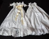 Vintage French Christening Gown with Lavish Lace for Young Baby