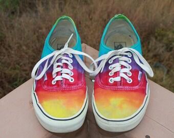 Tie Dye VANS Shoes Men's 8.5 Women's 10, upcycled
