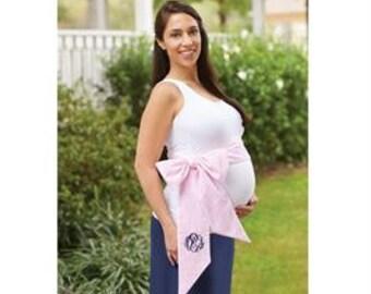 Monogrammed maternity sash, newborn sash, monogrammed baby bow, maternity pictures, newborn pictures, birth announcement, baby boy baby girl