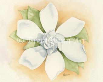 Gardenia Print, Printable Art, Gardenia Art, Home Decor, Watercolor, Wall decor, Instant Download
