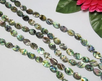 Abalone Shell 10x14mm oval Loose Beads