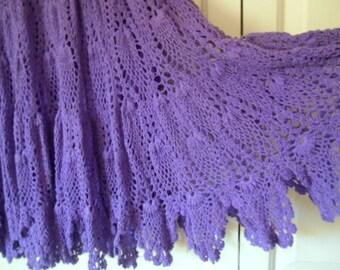 ON SALE.........Vintage 90's purple crocheted India Skirt