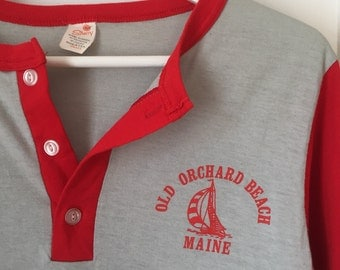 Vintage Old Orchard Beach 3/4 Sleeve T-shirt