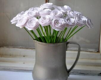 Custom Rose Pearl Paper Flowers Centerpiece, Gift Bouquet, Home Decor