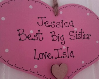 Personalised Wooden Gift Big Brother Big Sister