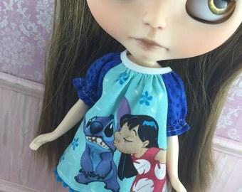 Blythe Smock Dress - Lilo and Stitch