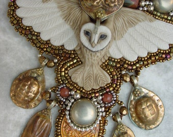 Golden Owl Necklace