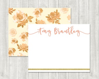 Personalized Stationery   Custom Stationary   Retro Notecards   Personalized Notecards   Custom Thank You Notes   Flat Thank You Notes