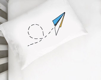 Kids Room Airplane Pillow Case Dream Big Little One Childs Pillow Modern Childrens Bedding Child Kids Room PillowCase