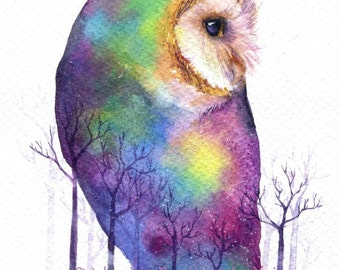 PRINT –Froesr Dreams Watercolor painting 7.5 x 11""