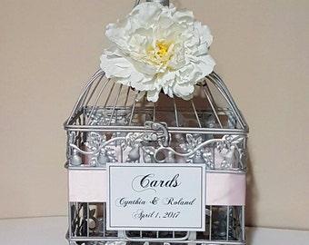 Small Silver Wedding Card Box-Wedding card holder