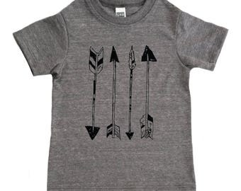 Arrows Kids Shirt - Boys Clothing or Girls Clothing - Native America / Arrows / Archery Shirt - American Apparel Baby & Toddler T Shirt Tops