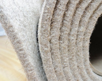 """Eco Felt Insoles, Slipper Insoles Fabric, 100% Eco Wool Insoles, Shoe Making Supplies, Slipper Supplies, 10X12 Insole Sheets, 1/4"""" Felt"""