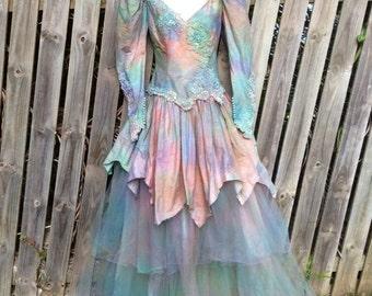 20%OFF Wedding dress, bohemian gypsy wedding dress, gypsy dress, boho wedding dress, fantasy wedding dress, size 0 to 2 , formal dress, brid