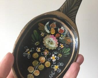 Folk art spoon for hanging / rustic vintage / batea / Mexican wall art/ russian flowers folk