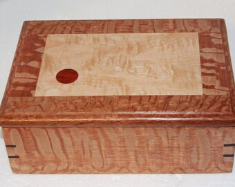 Lacewood, Tiger Maple, Wenge, and Padauk Jewelry Box Keepesake box Gift