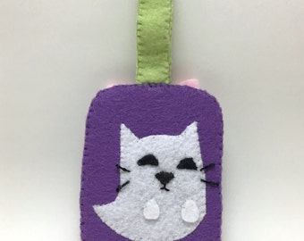 Card Holder - Cute Ghost Cat