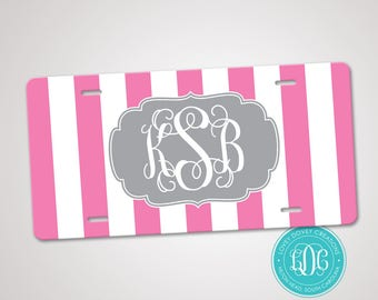 Monogrammed License Plate, Personalized License Plate, Monogram Car Tag, Sweet 16 gift