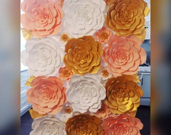 One Large Gold Paper Flower GOLD Paper Flower Handmade Paper Flower