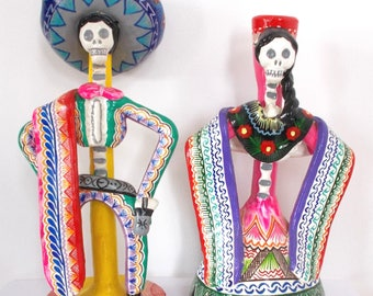 Day Of The Dead Candlesticks