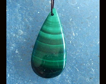 New,Malachite Pendant Bead,29x14x4mm,4.2g