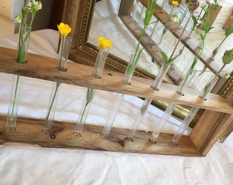 Handmade, Home Decor, Mother's day gift, Minimalist Vases, Bud Vases, Test Tube Vases, Wedding Decor, Rustic Wedding decor, Flower Bud vase