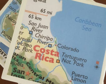 Costa Rica Drink Coasters...Set of 4