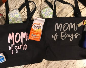 Mom Zipper Market Totes