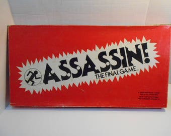 Assassin: The Final Game Complete Southold Game Corp. 1980, Ages 13 to Adult,  2-4 Players, Not Politically Correct