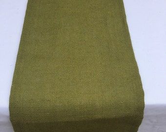 Moss Green Burlap Table Runner, Wedding, Shower, Party, Home Decor, Custom Sizes Available