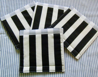LUGGAGE HANDLE Wraps Luggage Identifier Tags Wide Stripes Black and White  One (1) Each