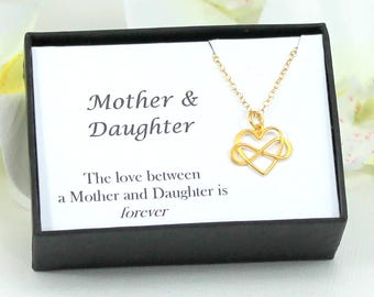 Mother Daughter Jewelry, Infinity Heart Necklace, Mothers Day Gift For Mom, Mothers Necklace, Grandma Gift, Infinity Necklace, Mom Jewelry