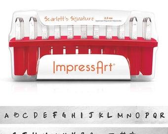 ImpressArt - Uppercase 2.5mm Alphabets Scarlett's Signature Stamp Set  (4939)/1