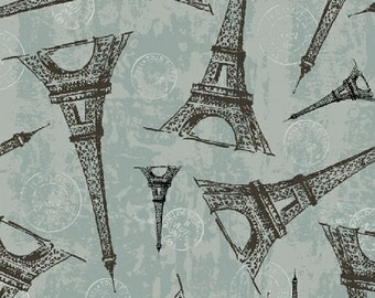 Destination Paris Eiffel Tower in Blue 42498-4 by Whistler Studios for Windham Fabrics