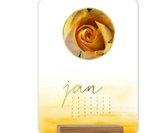 Watercolor Ombre Easel  Desk Calendar, 2017, Fine Art Photography, Celebrate Beauty Each Month of the Year, FREE SHIPPING in USA