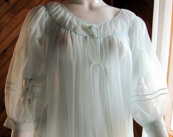 See Through Negligee Etsy
