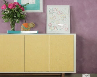 Chunky Cable Knit Furniture Stencil for DIY Wallpaper Look