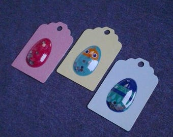 Easter Eggs / Gift Tags / Up Cycled / Set of 3