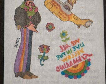 Beatles Yellow Submarine Rub-Ons No. 7