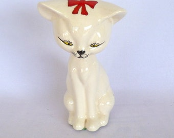 VINTAGE White KITTY Large FIGURINE